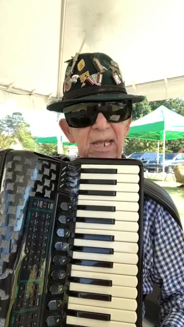 My dad is playing at the OctoberFest I Raleigh today. He is going strong for being 92!